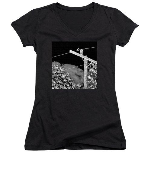 Mockingbird On A Wire Women's V-Neck T-Shirt