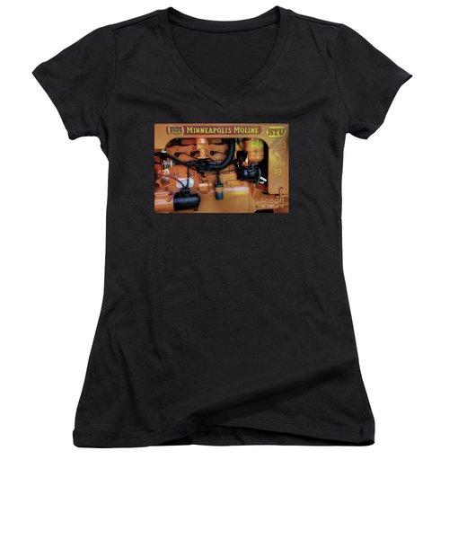 Moline Engine Women's V-Neck T-Shirt