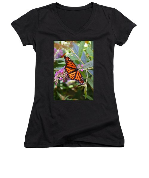 Monarch Butterfly 2 Women's V-Neck T-Shirt (Junior Cut)