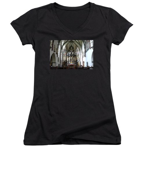Monastery Church Oelinghausen, Germany Women's V-Neck (Athletic Fit)