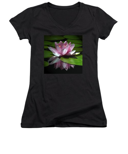 Women's V-Neck T-Shirt (Junior Cut) featuring the photograph Monet's Muse by Marion Cullen