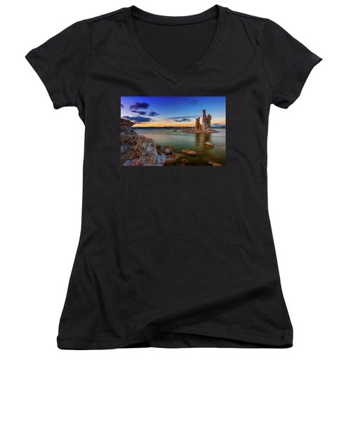 Mono Sunset Women's V-Neck (Athletic Fit)
