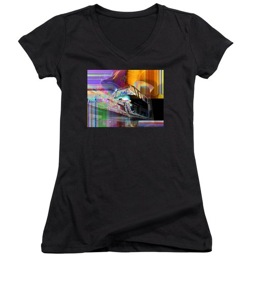 Monorail And Emp Women's V-Neck (Athletic Fit)