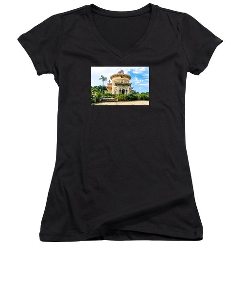 Monserrate Palace Women's V-Neck T-Shirt (Junior Cut) by Marion McCristall