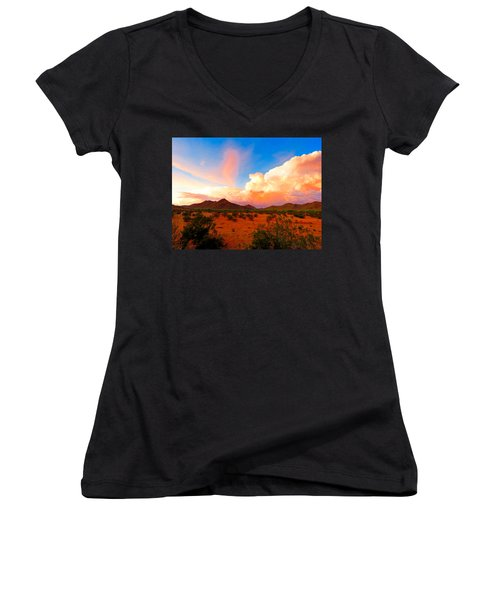 Monsoon Storm Sunset Women's V-Neck