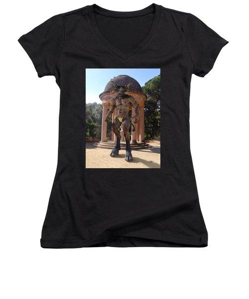 Monster Maze Women's V-Neck T-Shirt
