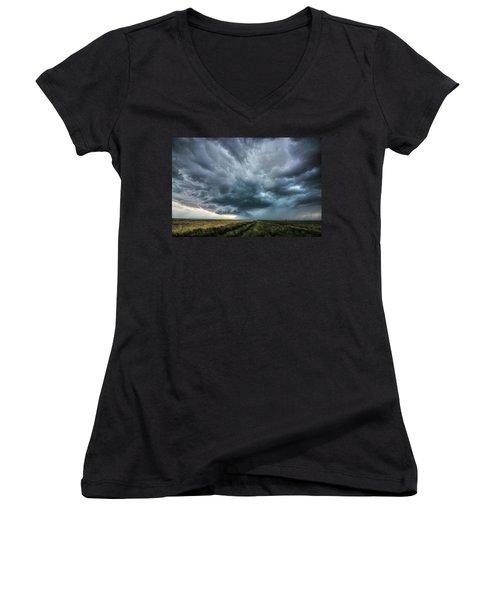Montana Thunderstorm Women's V-Neck T-Shirt