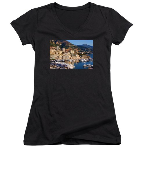 Monte Carlo Women's V-Neck T-Shirt