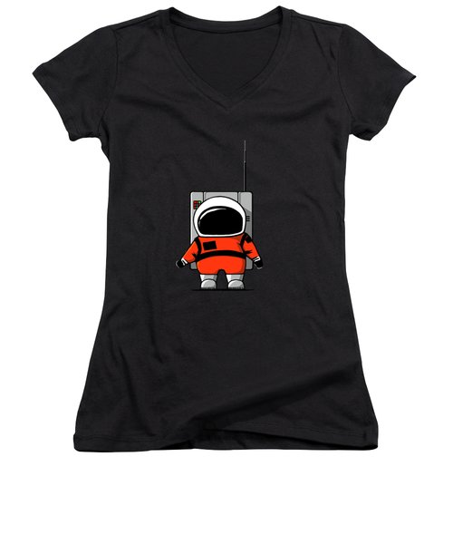 Moon Man Women's V-Neck T-Shirt