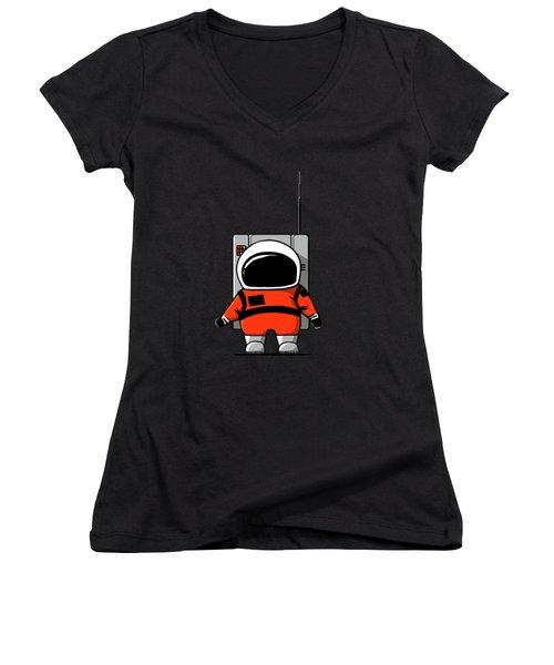 Moon Man Women's V-Neck T-Shirt
