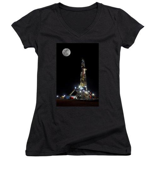 Moon Over Latshaw 10 Women's V-Neck T-Shirt