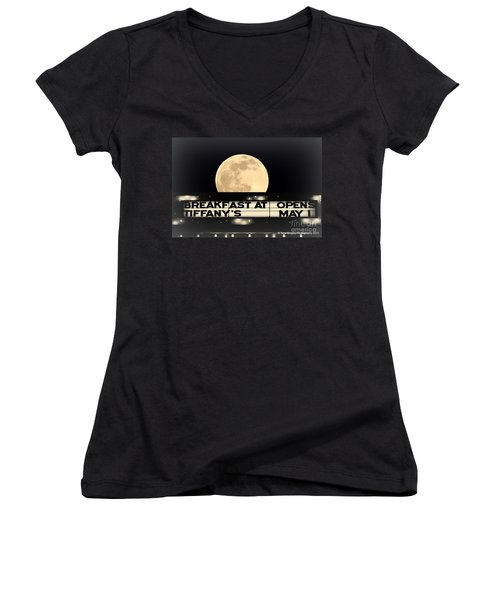 Moon Over Tiffany's Women's V-Neck (Athletic Fit)