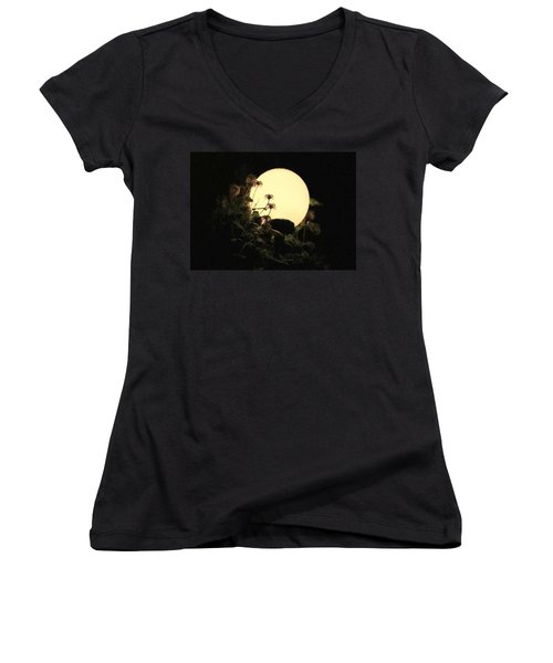 Moonglow Thistles Women's V-Neck