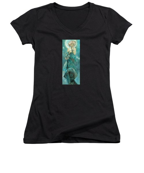 Moonlight Women's V-Neck (Athletic Fit)