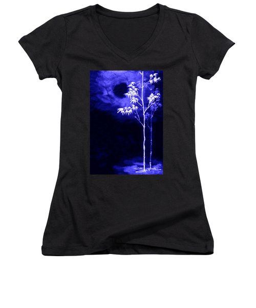 Moonlight Bamboo Women's V-Neck T-Shirt