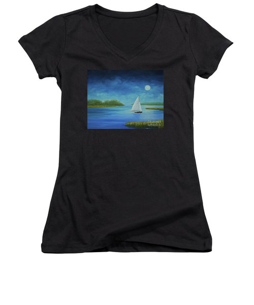 Moonlight Sail Women's V-Neck
