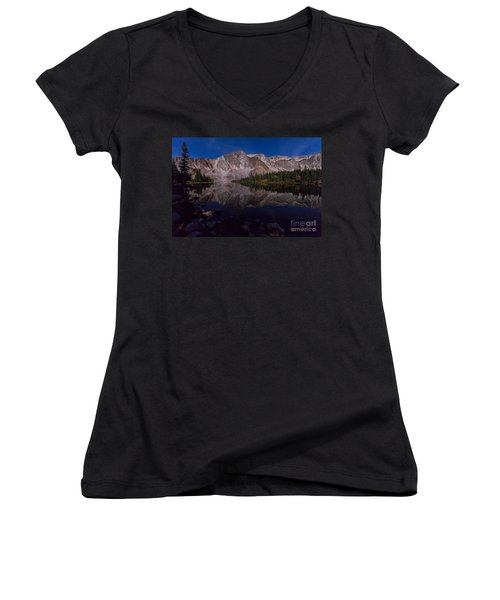 Moonlit Reflections  Women's V-Neck (Athletic Fit)