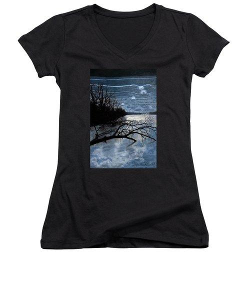 Moons Women's V-Neck T-Shirt (Junior Cut)