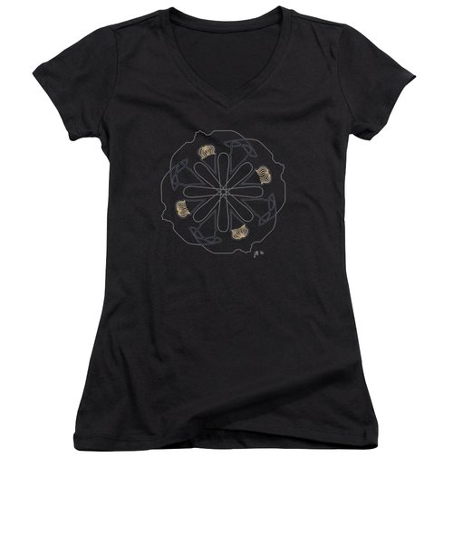Mop Top - Dark T-shirt Women's V-Neck T-Shirt