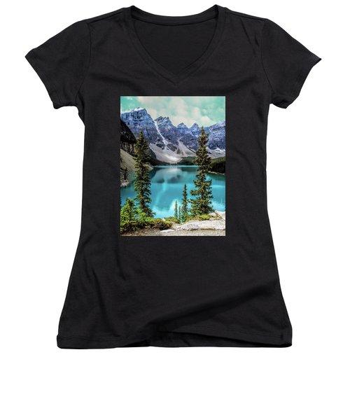 Moraine Lake Women's V-Neck T-Shirt