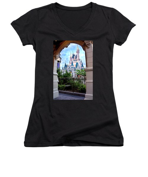 Women's V-Neck T-Shirt (Junior Cut) featuring the photograph More Magic by Greg Fortier