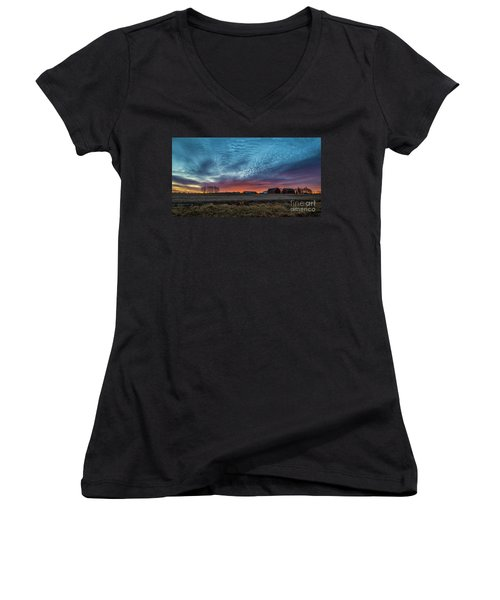 Morning Color Women's V-Neck T-Shirt