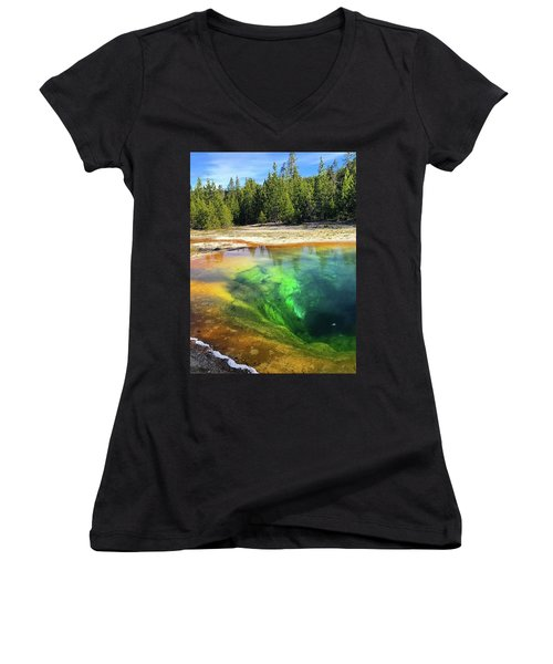 Morning Glory Pool Women's V-Neck (Athletic Fit)
