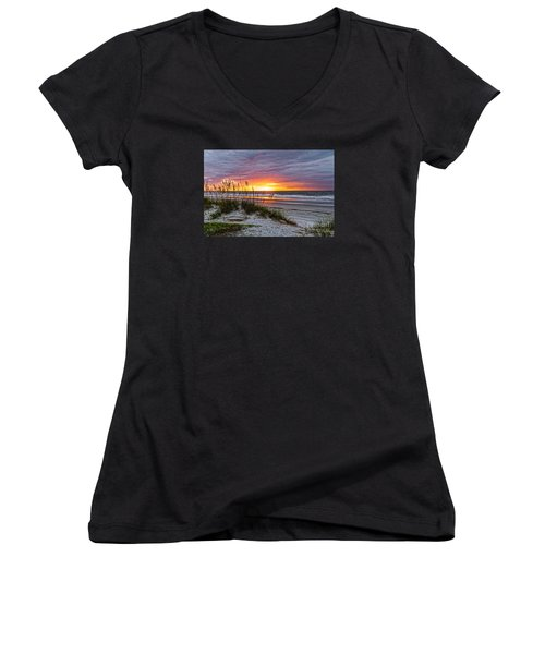 Morning Has Broken Women's V-Neck T-Shirt (Junior Cut) by Paul Mashburn