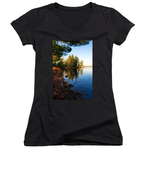 Morning On Chad Lake 4 Women's V-Neck (Athletic Fit)