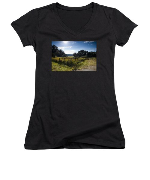 Morning On The Farm Women's V-Neck
