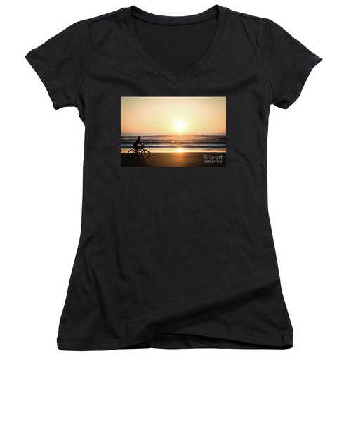 Morning Ride Women's V-Neck T-Shirt