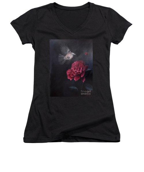 Morning Rose Women's V-Neck T-Shirt