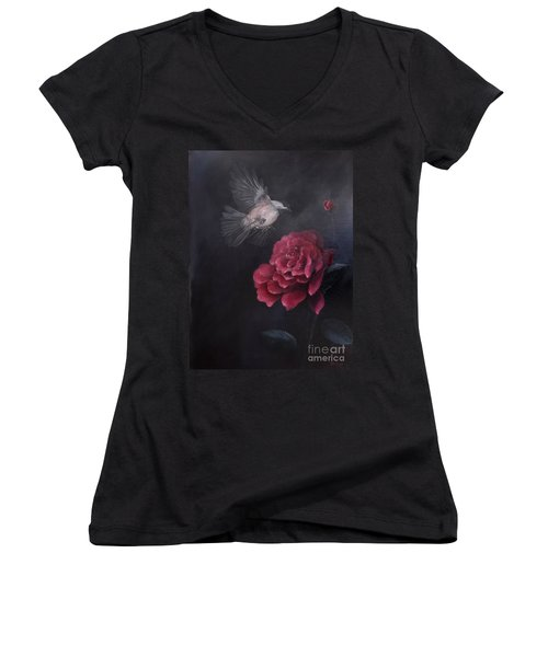 Morning Rose Women's V-Neck