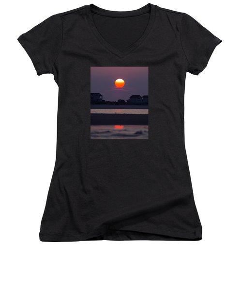 Morning Sun Women's V-Neck T-Shirt (Junior Cut) by Alan Raasch