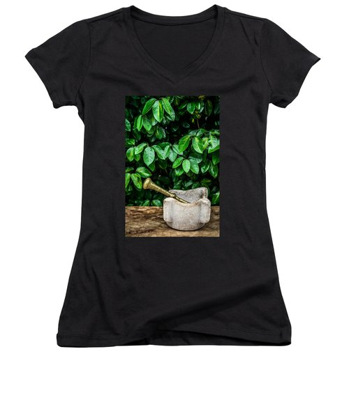Mortar And Pestle Women's V-Neck T-Shirt
