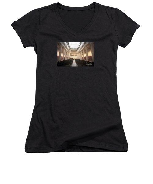 Moscow Consert Hall Women's V-Neck T-Shirt