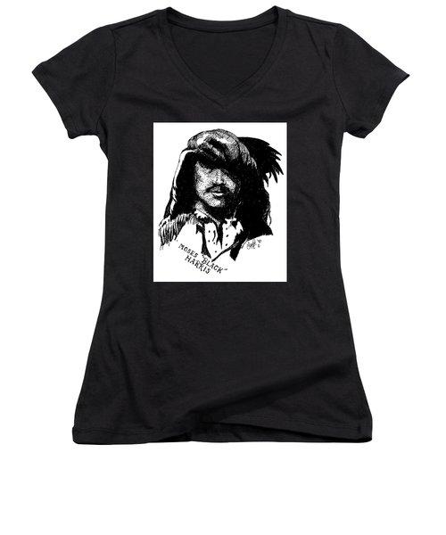 Moses Black Harris Women's V-Neck T-Shirt