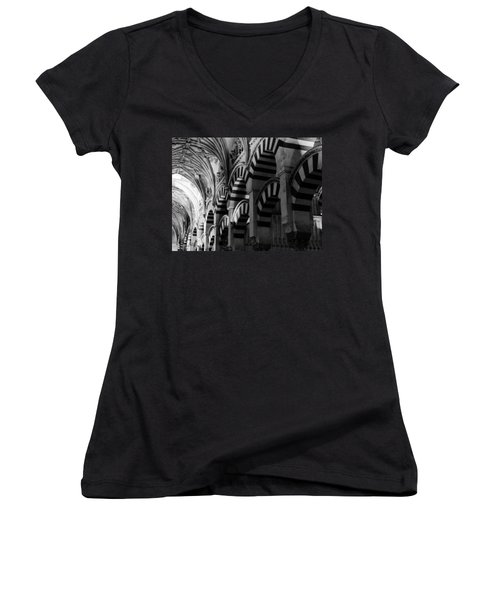 Mosque Cathedral Of Cordoba 6 Women's V-Neck