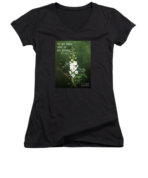 Moth Mullein Women's V-Neck (Athletic Fit)