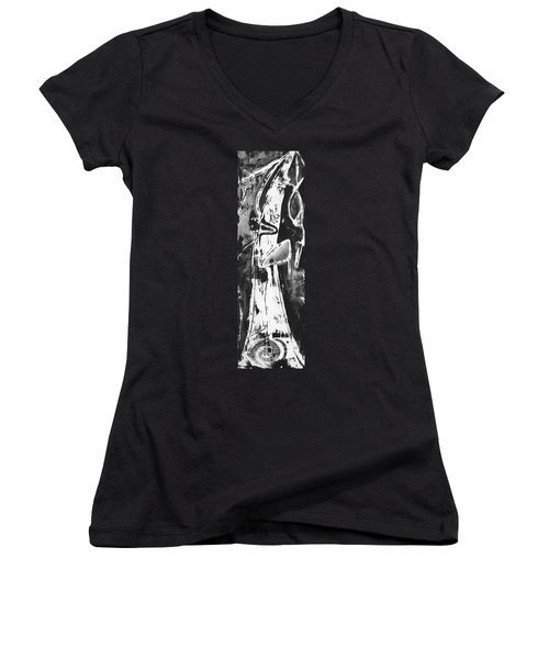 Mother Women's V-Neck T-Shirt (Junior Cut) by Carol Rashawnna Williams