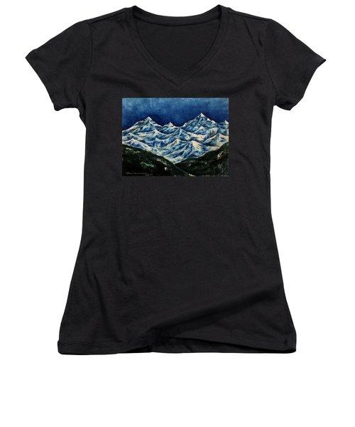 Mountain-2 Women's V-Neck