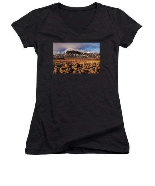 Mountain And Land, Iceland Women's V-Neck