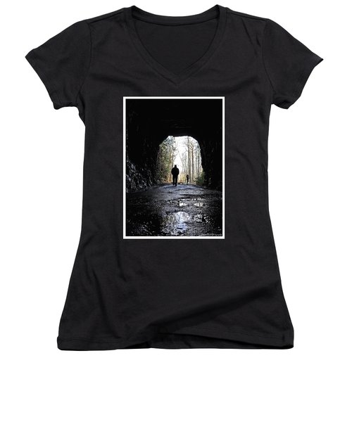 Mountain Tunnel Women's V-Neck (Athletic Fit)