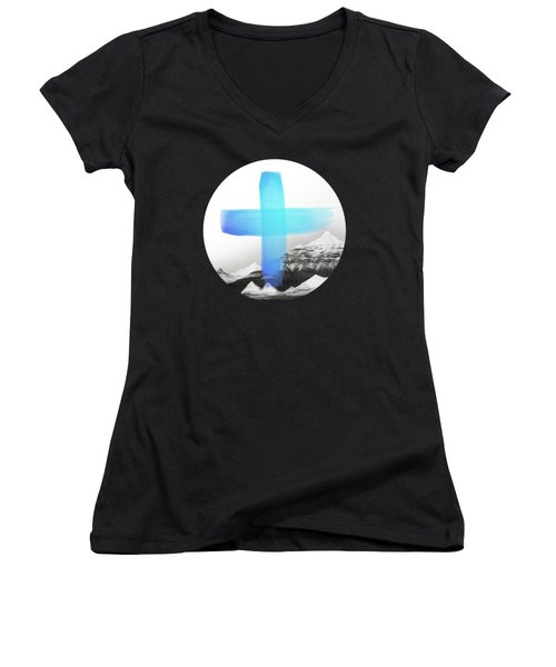 Mountains Women's V-Neck (Athletic Fit)