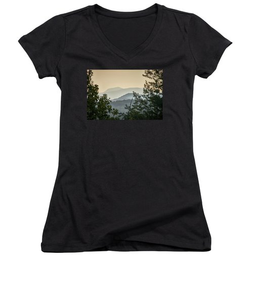 Mountains In The Distance Women's V-Neck (Athletic Fit)