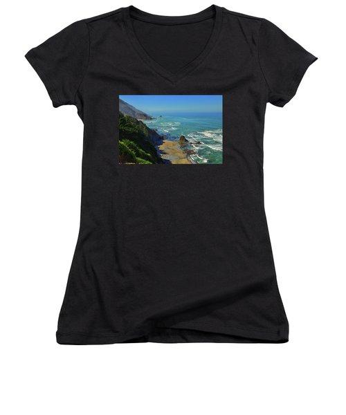 Mountains Meet The Sea Women's V-Neck