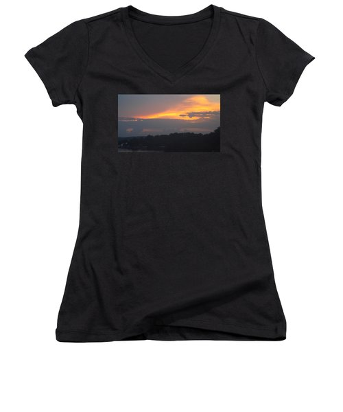 Mountains Of Gold  Women's V-Neck T-Shirt (Junior Cut) by Don Koester