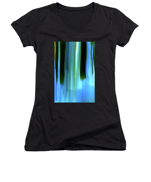 Moving Trees 37-05 Portrait Format Women's V-Neck (Athletic Fit)