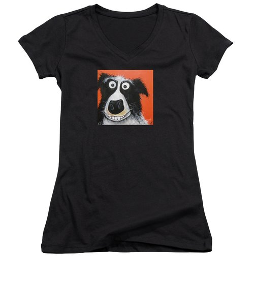Mr Dog Women's V-Neck T-Shirt