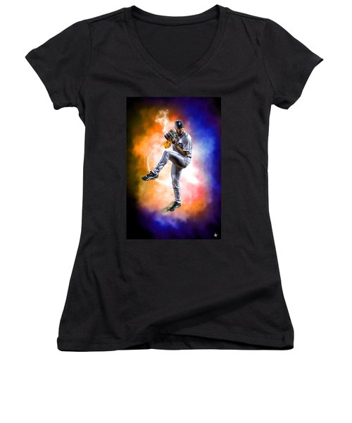 Mr. Justin Verlander Women's V-Neck T-Shirt